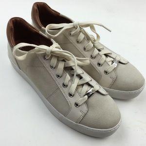 Coach neutral suede sneakers Sz 10